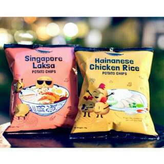 F.EAST Hainanese Chicken Rice Chips / F.EAST Singapore Laksa Chips