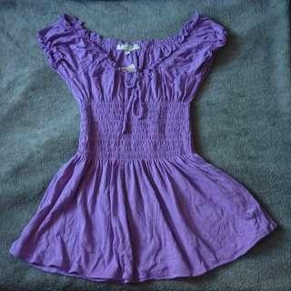 歐美 女裝 紫色 短袖衫 上衣 tee