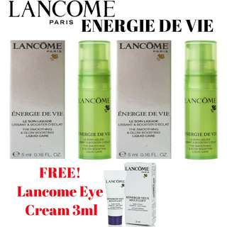 Purchase 2pcs Lancome Energie De Vie 5ml And Get Free Lancome Eye Cream 3ml