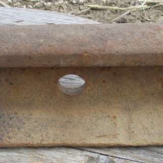 A piece of railroad track