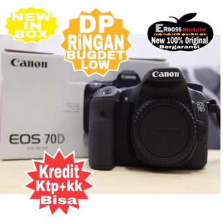Kredit Low Dp Canon EOS 70D [Body Only] Resmi-ditoko Promo ktp+kk wa;081905288895