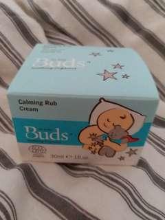 Buds Soothing Organics: Calming Rub Cream 30ml (New)