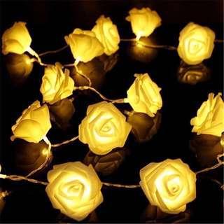 [Instock] Rose Flower Wedding Led Fairy Light