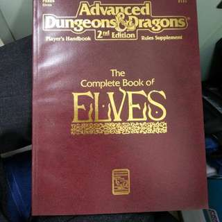 Adv Dungeons & dragons The complete book of Elves