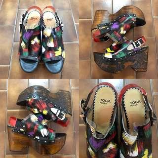 37 Toga Pulla wood wedge sandals