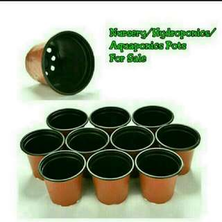 [ LAST SET] GARDENING - Terracotta-colored Plastic Pots For Sale