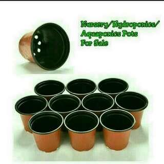 [ LAST SET] GARDENING - Terracotta-colored Plastic Pots For Sale