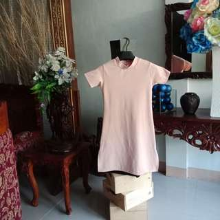 Nude pink dress w/ slit