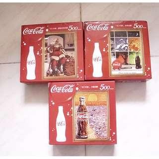 一套3盒可口可樂台版500塊拼圖