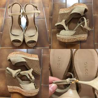 37.5 Gucci wedge sandals