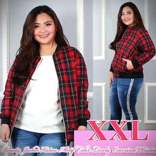 Beauty Jacket Katun Motif Color Lovely Oversized Kristin