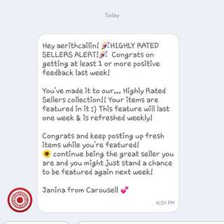 Thank you carousell!😊
