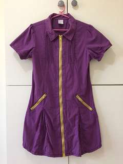 Purple dress with zippers