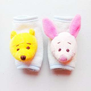DISNEY WINNIE THE POOH PIGLET PRAM STROLLER DROOL PADS / CAR SEAT DROOL PADS / STRAP PROTECTOR