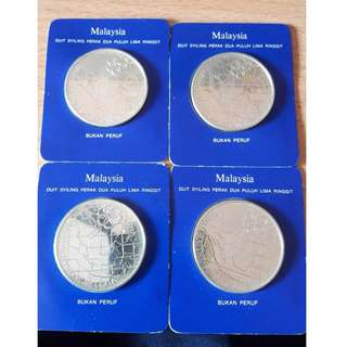 Malaysian RM25 Silver Perak Coin -Non Proof