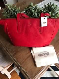 Fossil bag red