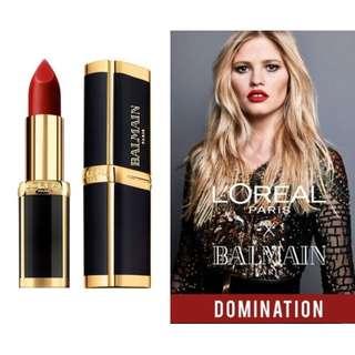 L'oreal X Balmain limited edition Domination sealed new lipstick