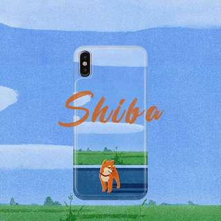 Shiba in the Park iPhone case