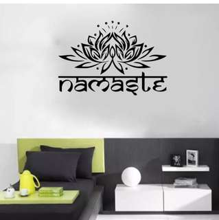 Namaste Lotus Wall Decor Stickers , free postage