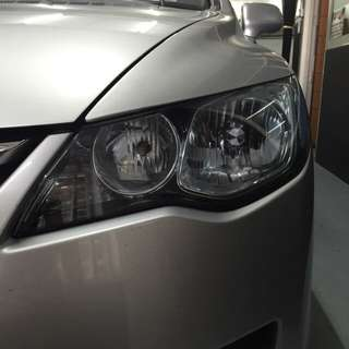 Civic FD headlamp light blue tinting