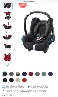 Maxi cosi almost new for sale, Good for Mamas papas stroller
