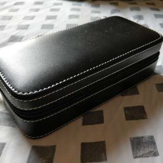 Leather 2 watch carry case