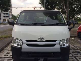 2016 hiace for monthly rent