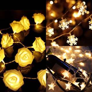 [Instock] Star Rose wedding Snowflakes Snow Fairy Lights