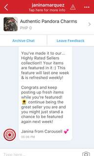Highly rated seller / Thank you Carousell