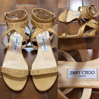 36 Jimmy Choo patent leather sandals 女神鞋