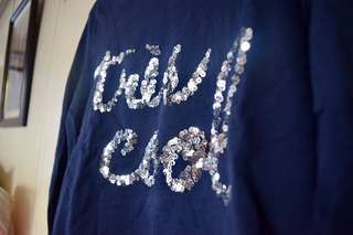 Navy Blue Sparkle Sweater