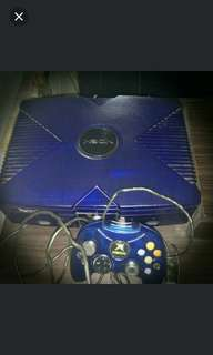 Crystal blue Xbox with lots of Games