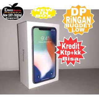 Kredit low Dp  Iphone X 256Gb New Original Apple promo ditoko ktp+kk bisa wa;081905288895