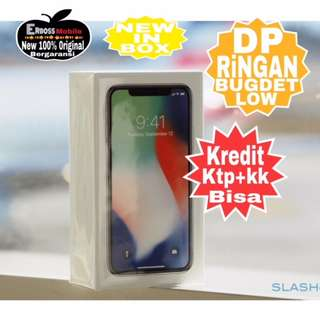 Kredit low Dp  Iphone X 64Gb New Original Apple promo ditoko ktp+kk bisa wa;081905288895