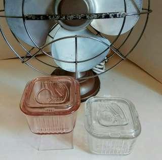 重拾昔日情懷: 玻璃器皿2個 (歲月珍藏品)