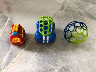 Used Toy car, Ball for Babies