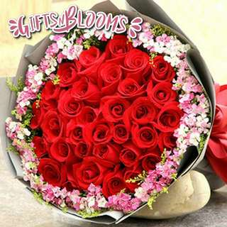 Fresh Flower Bouquet Anniversary Birthday Flower Gifts Graduation Roses Sunfowers Baby Breath -  6040     87