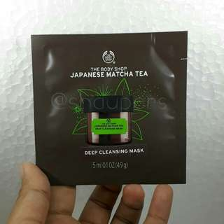 Japanese Matcha Tea Deep Cleansing Mask Sachet