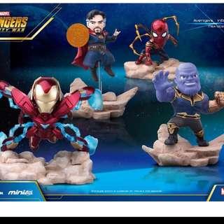 預訂原裝正版 野獸國 Beast Kingdom Mini Egg Attack  迪士尼 marvel Avengers Infinity War復仇者聯盟,無限之戰系列公仔iron spider蜘蛛俠,ironman mk50, thanos figure膠公仔
