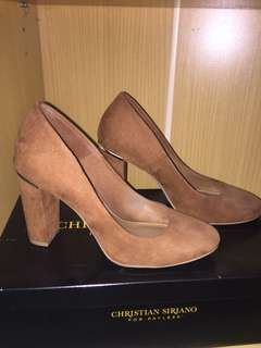 Christian Siriano for Payless Brown Block Heels