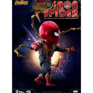 預訂原裝正版 野獸國 Beast Kingdom  Egg Attack action iron spider 迪士尼 marvel Avengers Infinity War復仇者聯盟 無限之戰系列公仔 蜘蛛俠 figure膠公仔
