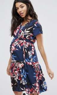 BNWT ASOS Mamalicious Nursing Floral Printed Skater Dress XS