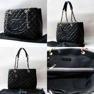 Chanel GST Caviar Black