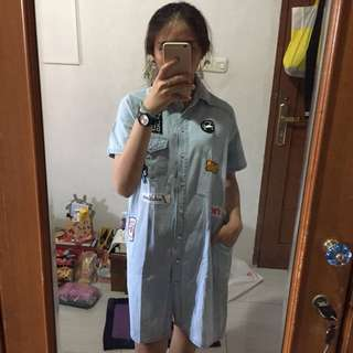 Patch Jeans Dress