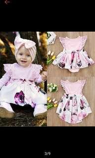 Cute baby & little girls floral sundress