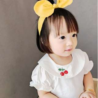 Baby Girl  Cherry Embroidery Fashion T-shirt Cute Kid Clothing