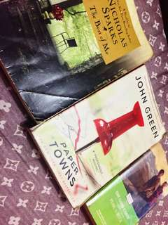 The best of me, paper towns, and the good earth.