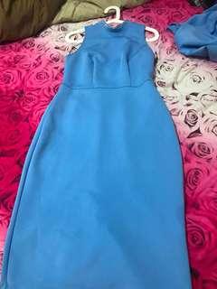 Dress Stretch Blue Dorothy Perkins Size S