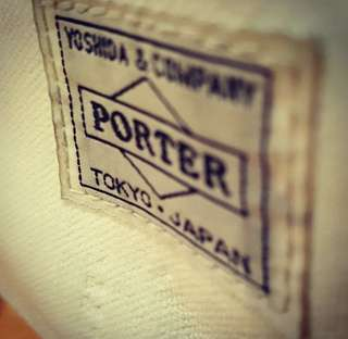 WHITE PORTER MESSENGER BAG