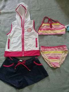 Swimsuit and sports wear set